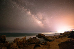 Milky way in the sky of Sardinia Royalty Free Stock Photography