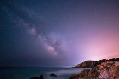 Milky way in the sky of Sardinia. A beautiful milky way in the sky of Sardinia in a day of summer Stock Images