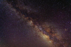 Milky Way. Sky. Spiral galaxy seen from Earth Royalty Free Stock Photos