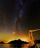Milky way. Starry night over clear sky Royalty Free Stock Images