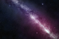 Milky way in a starry night sky Royalty Free Stock Images