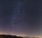 Milky way, starry sky, andromeda galaxy from the Alps Royalty Free Stock Photography