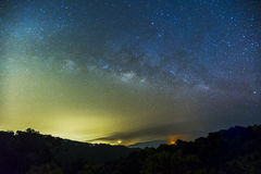 Milky Way and the starry sky captured from a full frame camera l Stock Photos