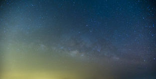 Milky Way and the starry sky captured from a full frame camera l Royalty Free Stock Photo