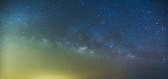 Milky Way and the starry sky captured from a full frame camera l stock images