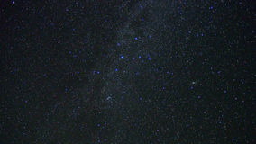 Night sky stars (milky way and double cluster) Royalty Free Stock Photography