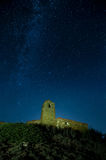 Milky way, stars and church Stock Photos