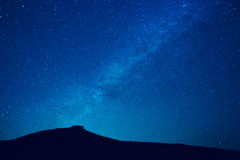 Milky way stars at night Royalty Free Stock Images