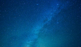 Milky way stars at night Stock Image