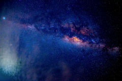 Milky Way stars at night. Long exposure night photo. Space background royalty free stock photography