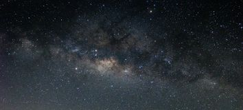 The Milky way and stars in the night sky.  royalty free stock image