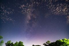 The Milky way and stars in the night sky.  royalty free stock photos