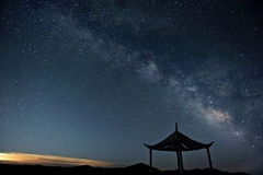 Milky way stars at night Royalty Free Stock Photos