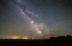 Milky Way stars. Milky Way over the field Stock Image