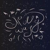 Milky way stars sky Royalty Free Stock Photos