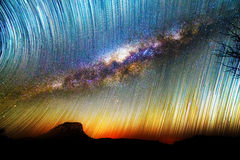 Milky way startrails Royalty Free Stock Photos