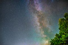 Milky Way. The Milky Way stretching across the night sky Royalty Free Stock Images
