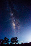 Milky way in summer night. Milky way in blue night sky royalty free stock photos