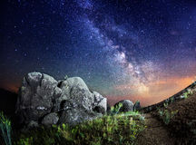 Milky Way. (Summer in Ukraine Royalty Free Stock Images