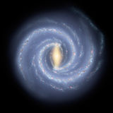 The Milky Way Symphony in Blue royalty free illustration