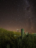 Milky Way @ Taupo. Capturing the stars and milky way on top of a hill in Taupo, New Zealand Stock Image