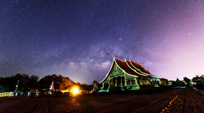 Milky way at the Thai church. / milky way on the sky stock photography