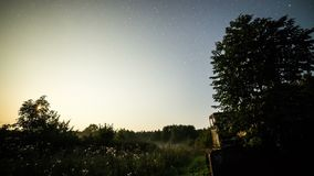 Milky way time-lapse of day-to-night transition stock video footage