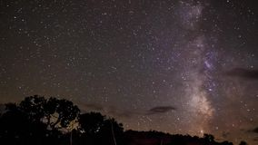 Milky Way Time-lapse. Milky way and moon rise near Lake Powell Utah time-lapse stock footage