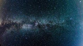 Milky Way, time-lapse stock video footage