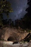 MILKY WAY TUNNEL. This place is a National Park with this natural tunnel entrace to the canyon. The park's most important geologic features are Cheile Bicazului royalty free stock photo