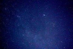Milky way in the dark night sky