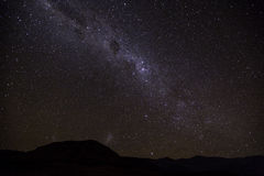 Milky Way. A view of the Milky way from the drakensburg mountain range in Kwazulu Natal on a dark new moon night Royalty Free Stock Photography