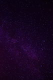 Milky Way. Violet night sky with the stars of Milky Way Stock Photo