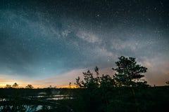 Milky way on Viru Raba swamp. Estonia Stock Photo