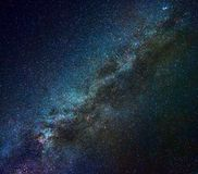 Milky Way in winter. Milky Way galaxy in winter time, Northern hemisphere Royalty Free Stock Photography
