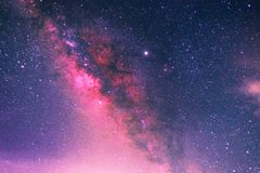Free Milky Way With Stars And Space Dust In The Universe Long Exposure Photograph With Grain Royalty Free Stock Photo - 154617035