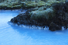 Milky White And Blue Water Of The Geothermal Bath Blue Lagoon Stock Photos