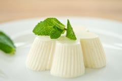 Milky white jelly Stock Photos