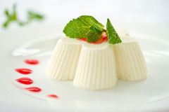 Milky white jelly Stock Image