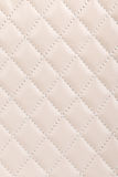 Milky white quilted leather background Stock Photo