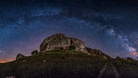 Milkyway 充分好的夜空星 库存图片