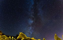Milkyway in Azores sky. Amazing milkyway in Sao Miguel island in Azores, Portugal Stock Photos