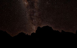 Milkyway behind Mont Kenya Stock Image