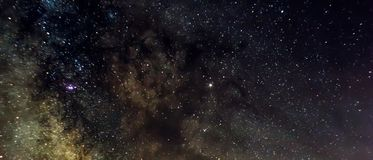Milkyway center. This is a stacked picture of the center of the milkyway stock photo