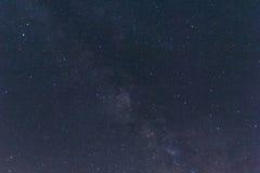Milkyway en sterren in zuidelijk Spanje Royalty-vrije Stock Afbeelding