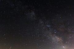 Milkyway et étoiles en Espagne du sud Photographie stock libre de droits