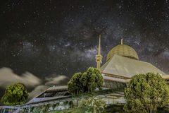 The MilkyWay and The Grand Mosque Stock Images