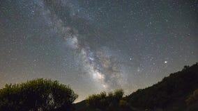 Milkyway. Milky way through cloudy sky stock video footage