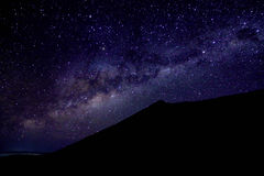 Milkyway at Mount Rinjani Crater Rim Stock Photo
