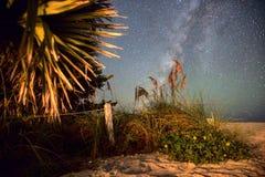 milkyway na praia Imagem de Stock Royalty Free
